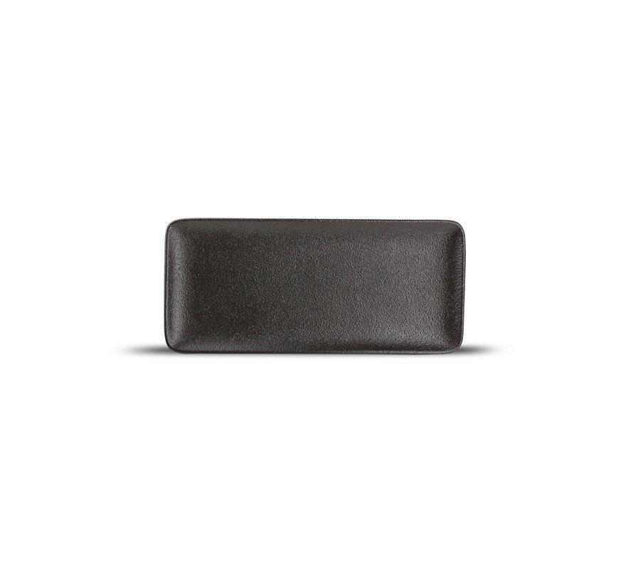 Dusk Plat bord 22x10cm black