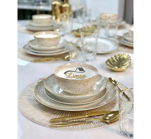 BRICARD PORCELAIN Bricard Porcelain Leval 6-Persoons | 25-Delig Serviesset