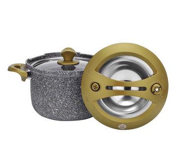 TAC Tac Smart Granit Snelkookpan Gold 4 Liter