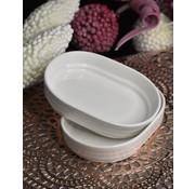 ACR ACR Bianco Perla Ovaal Serveerschaal 6 Delig 13,2 Cm