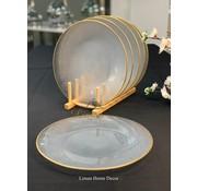 BRICARD PORCELAIN Bricard SIS Bordenset 28 cm Transparant - Gold Per Stuk