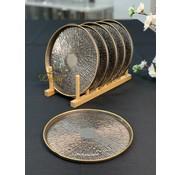 BRICARD PORCELAIN Bricard Duomo Bordenset 21 cm Taupe - Gold 6 Delig