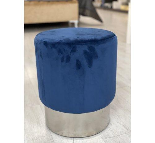 Deco Blauw Poef 35 x 35 x 42 cm