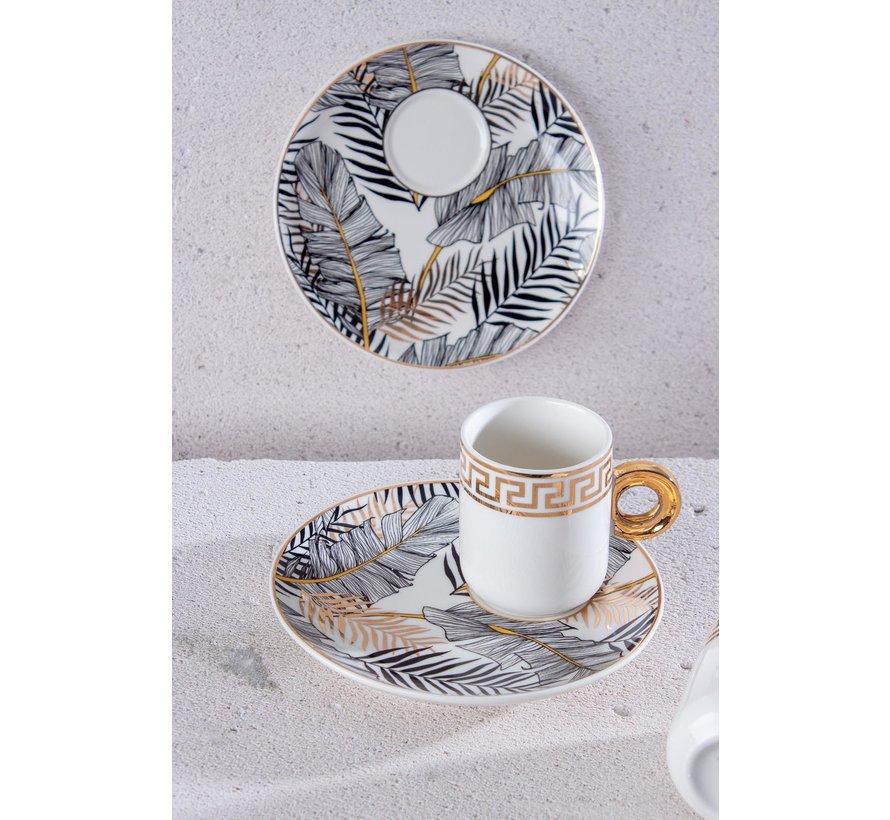 Acr Sara Espresso set 12 Delig   6 Persoons