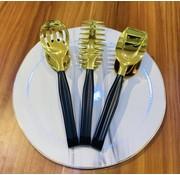 Titan Serveerset 3 Delig Zwart - Goud