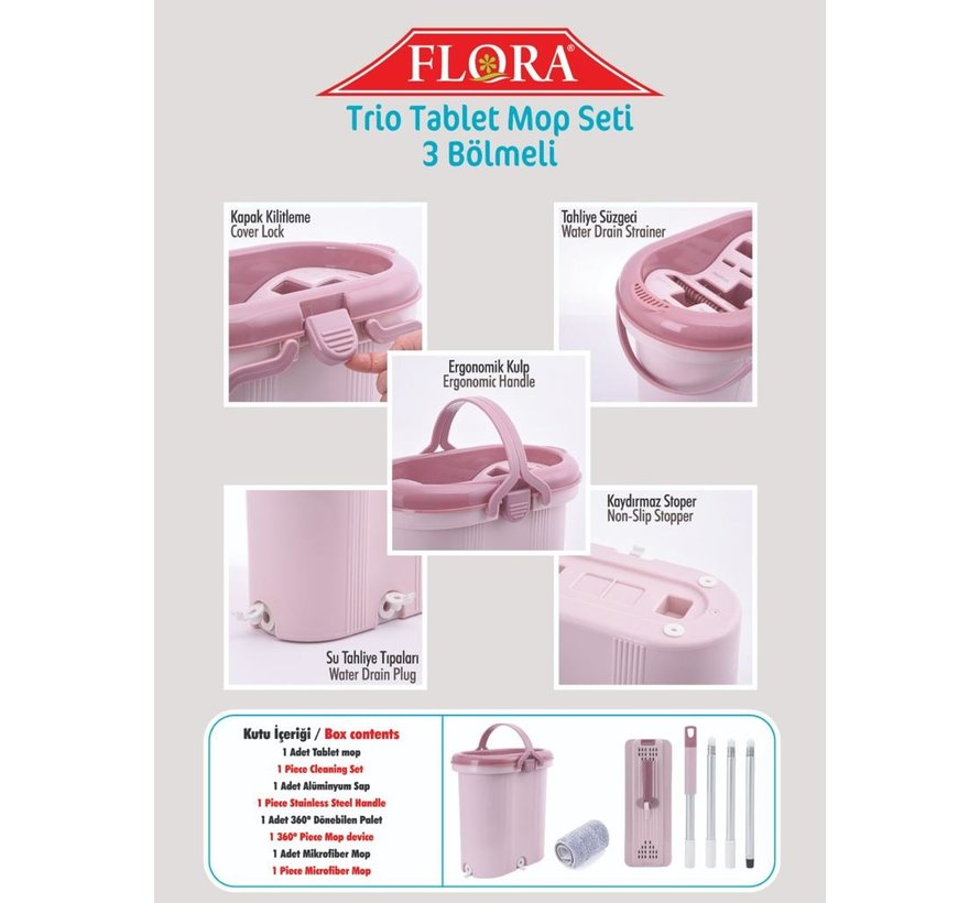 FLORA TRIO TABLET MOP SET