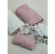 IPEKCE Ipekce Beril Handdoek set 4 Dlg Cream / Roze