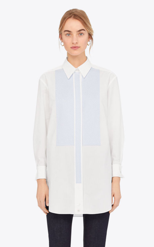 Cotton shirt with blue