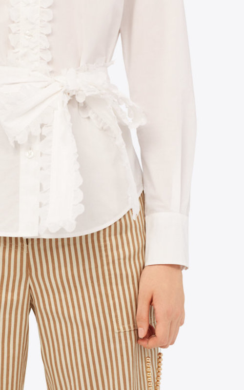 Tory Burch Scalloped cotton shirt