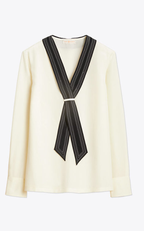 Tory Burch Silk tie neck blouse
