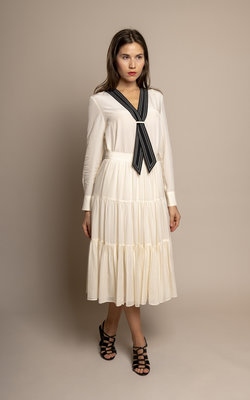 Tory Burch Textured georgette skirt