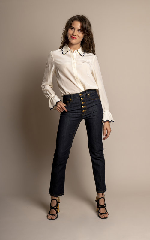 Tory Burch Scallop Edge blouse