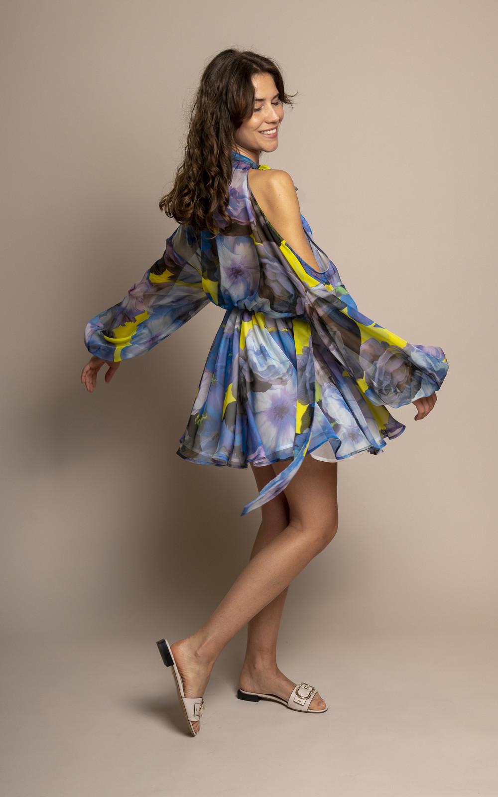 MSGM Dress short blue cloud