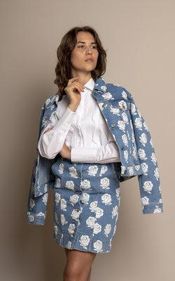 Kenzo Trucker flower denim jacket