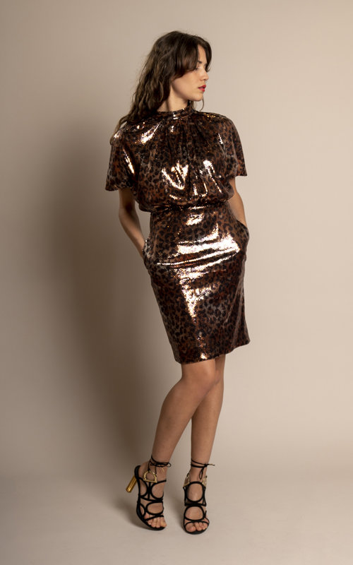Sequin longuette dress