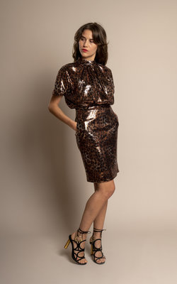 MSGM Sequin longuette dress