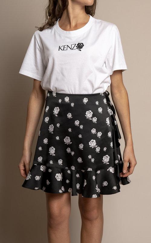 Kenzo Soft ruffled skirt Black