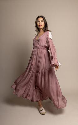 Each X Other Silk long dress color block