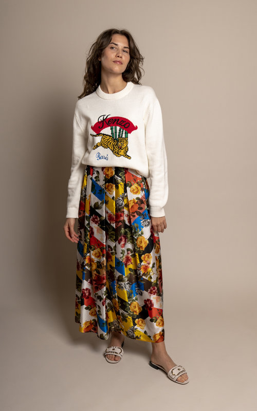 Black Coral Amelia multicolor skirt