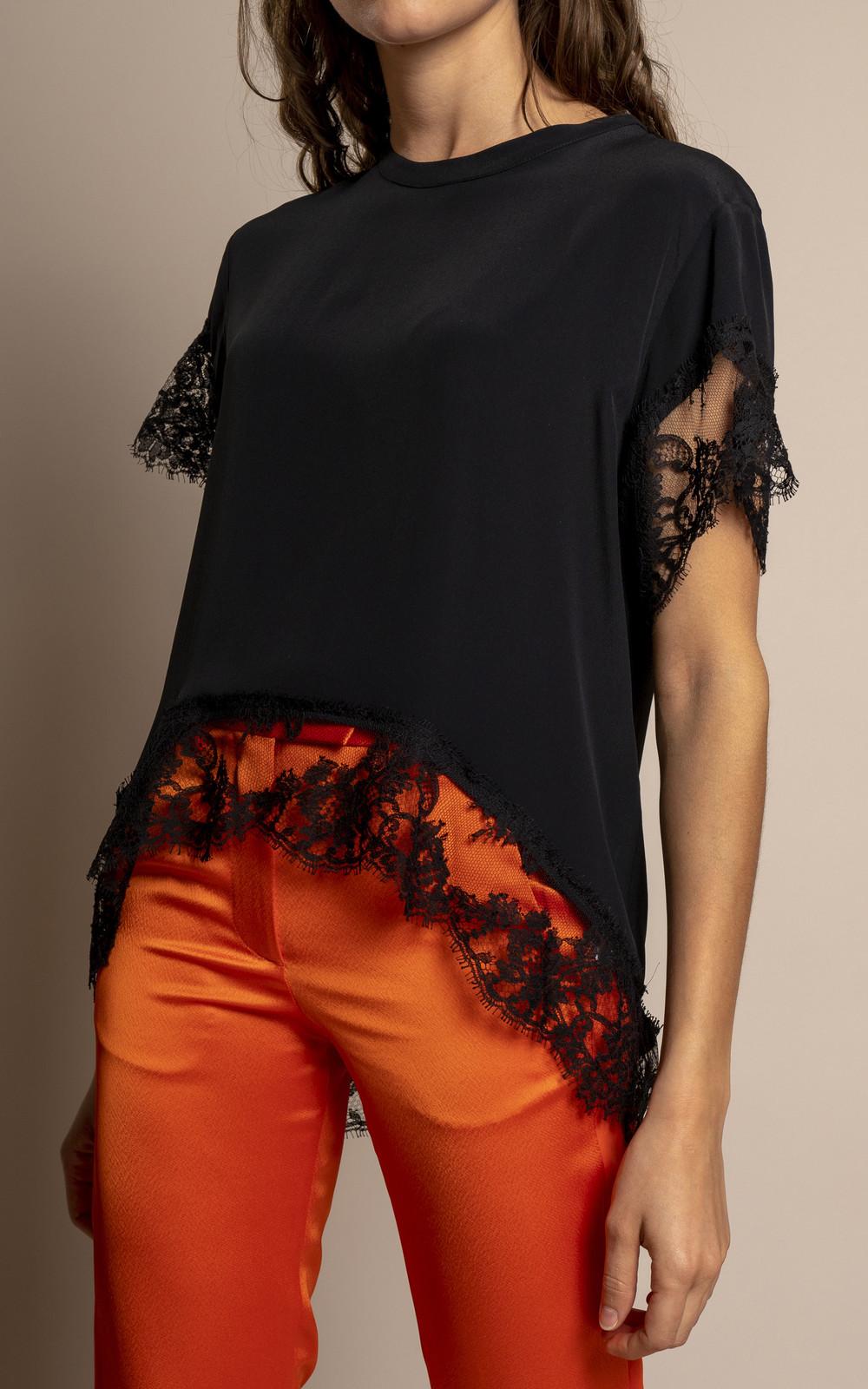 MSGM SS19 Blouse black lace