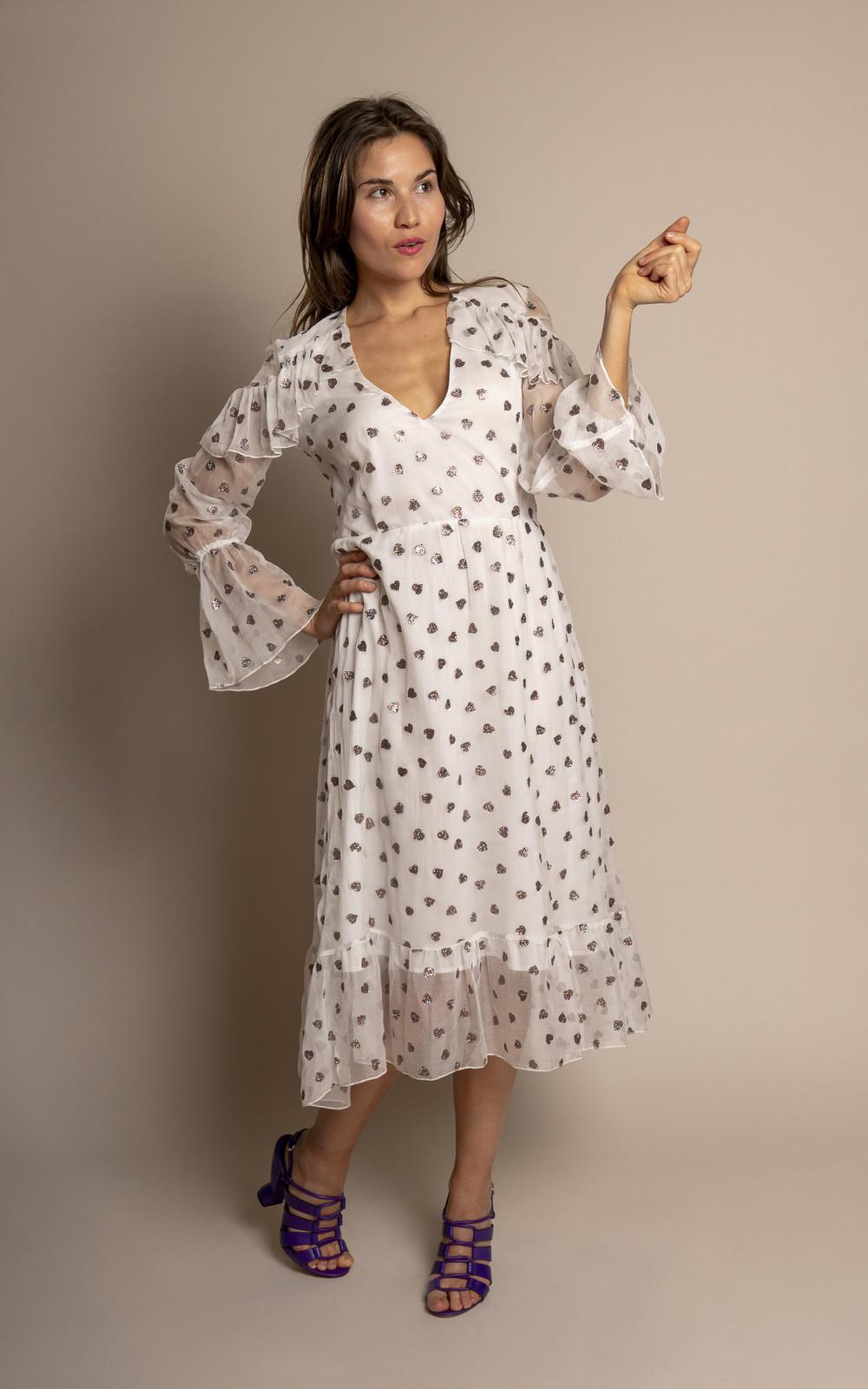 Sage & Ivy Dress White Silk