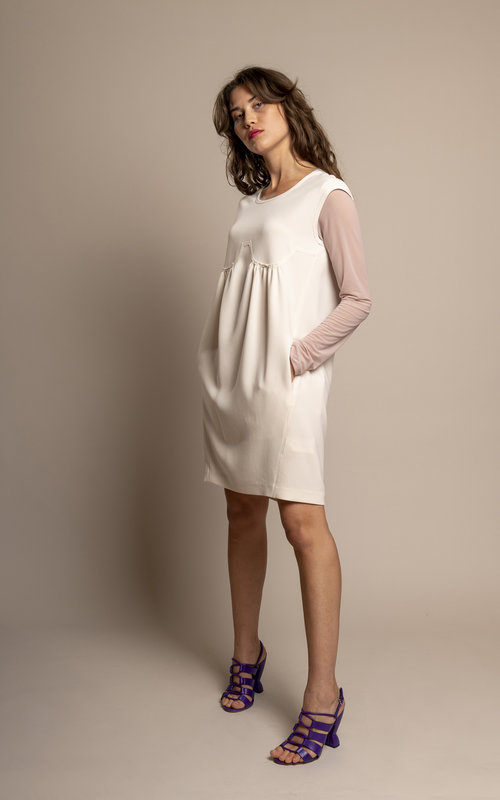 Neil Barrett Serene ivory dress