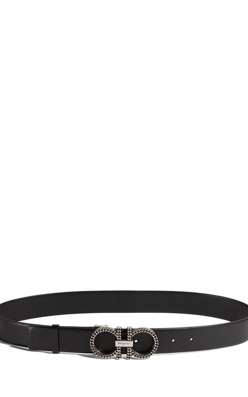 Salvatore Ferragamo SS19 Belt Paloma black adjustable