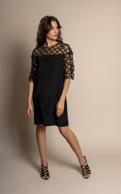 Sage & Ivy Sonia Dress Black Silk