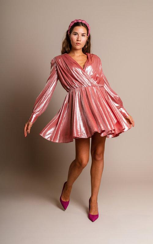 MSGM Pink glossy dress