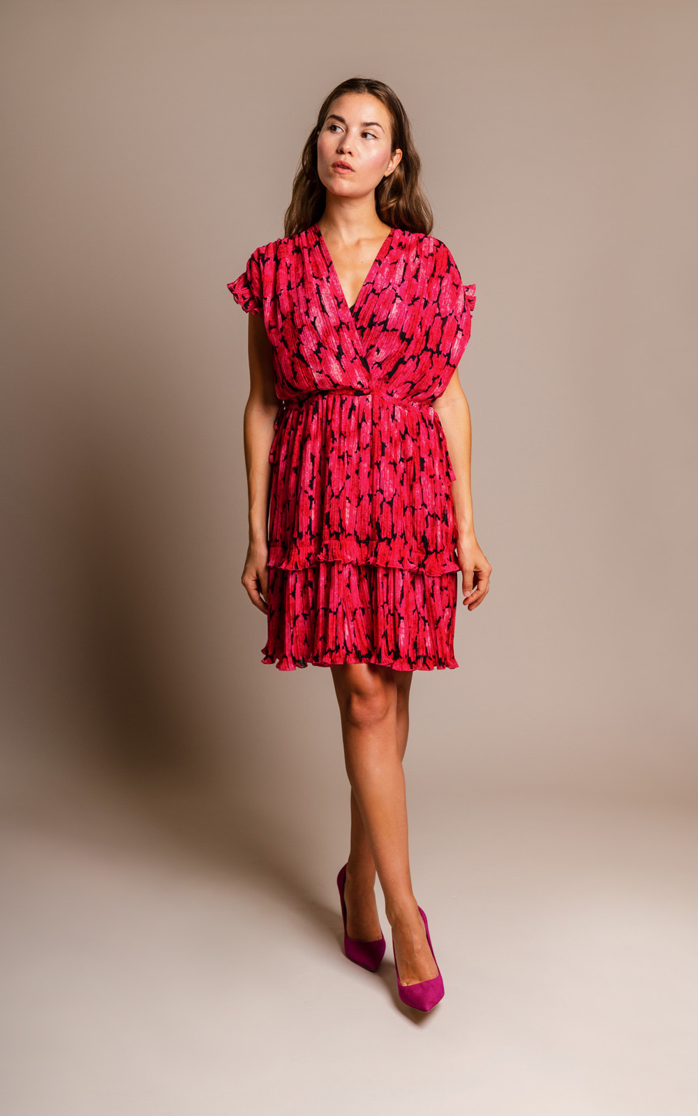Kenzo Pleated Peonie dress