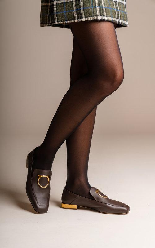 LANA moccasin mirror heel