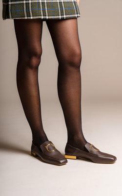 Salvatore Ferragamo LANA moccasin mirror heel