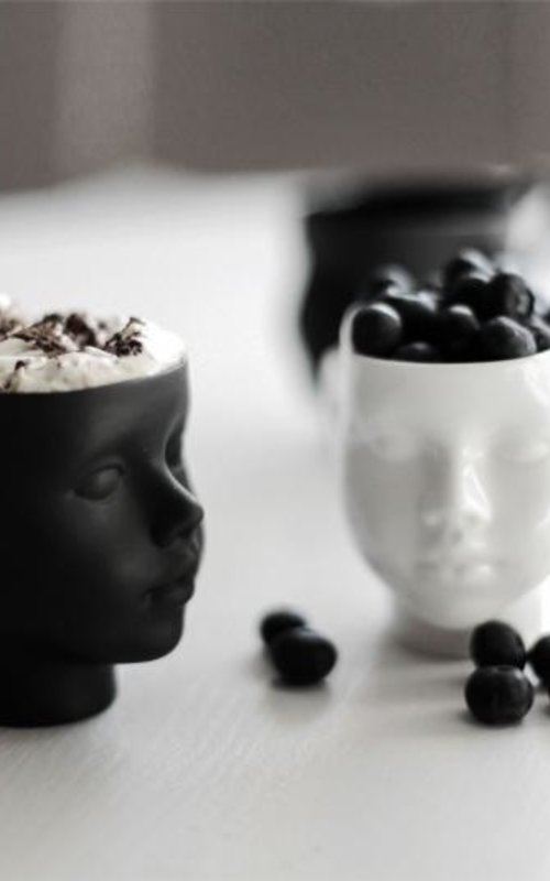 Ende Ceramics Doll head mug white