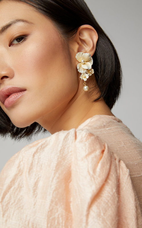Jennifer Behr Sadira Earring Chanmpagne