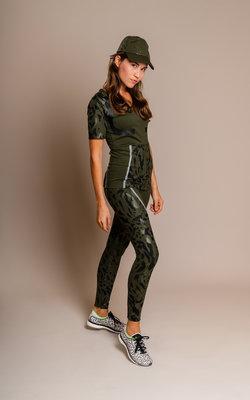 Adidas By Stella Run long tight dark oak