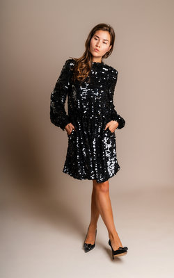 MSGM Sequins dress black