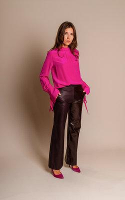 Neil Barrett Leather pants bordeaux