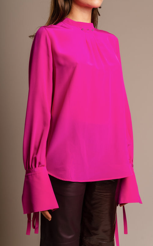 Silk fuchsia blouse
