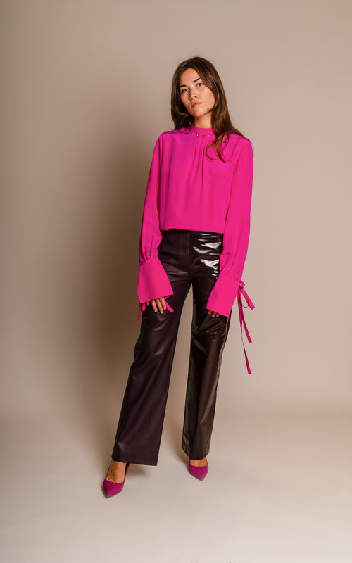Neil Barrett Silk fuchsia blouse