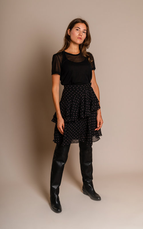 Tiered Rufflz skirt Black