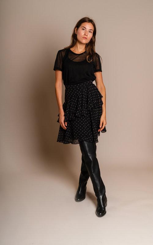 Alexa Chung Tiered Rufflz skirt Black