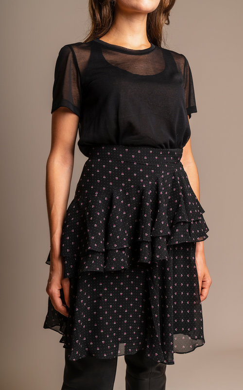 Alexa Chung Tiered Rufflz skirt Black