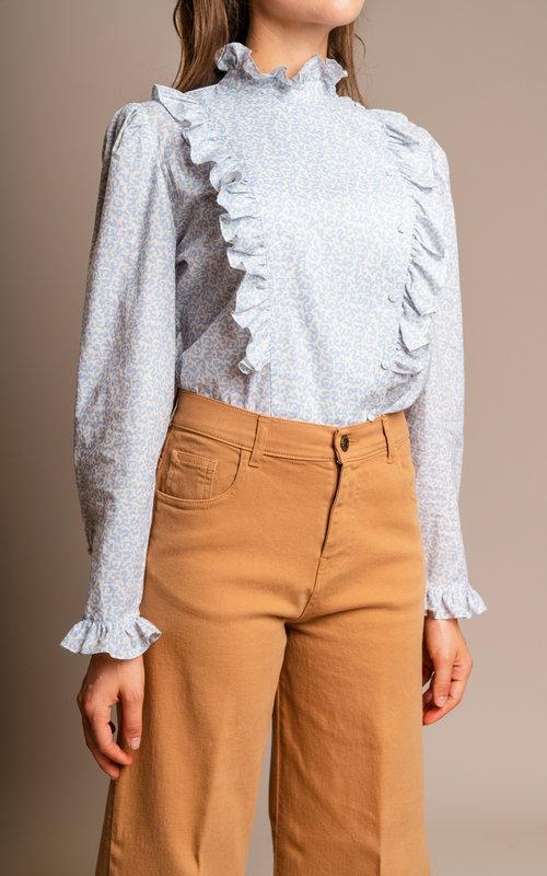 Ruffles detail blouse Civory
