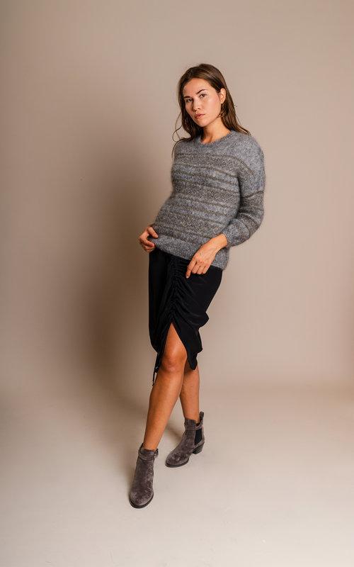 L'autrechose Curled skirt black