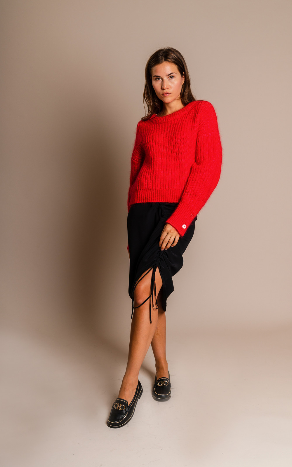 Kenzo Chunky mohair jumper red