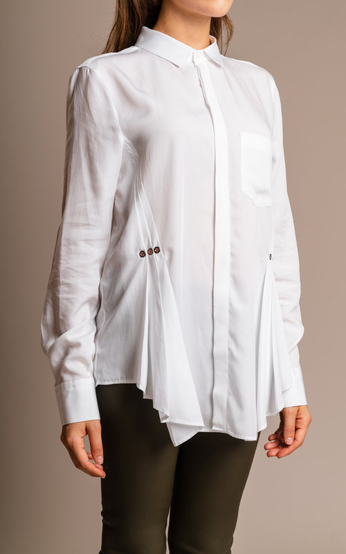 Neil Barrett White pleated shirt