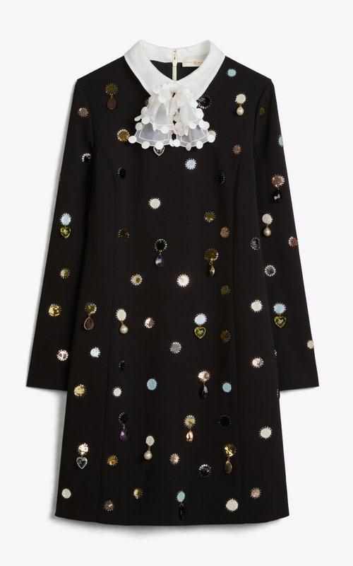 Tory Burch Jewel embroidered dress