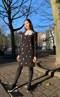 Tory Burch Jewel embroidered dress
