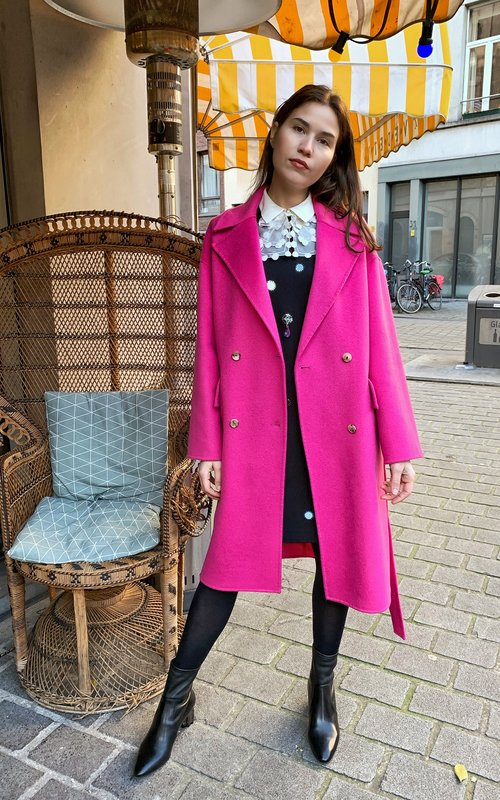 Belted cocoon coat