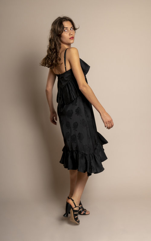 Kenzo Strapped ruffles dress Black
